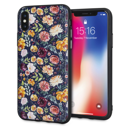 lovecases floral art iphone x case - black reviews