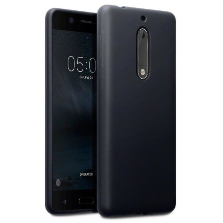 FlexiShield Nokia 5 Gel Hülle in Tiefes Schwarz