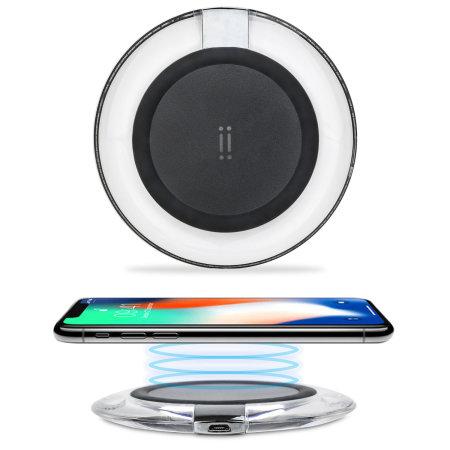chargeur sans fil iphone x 8 plus 8 aiino noir transparent. Black Bedroom Furniture Sets. Home Design Ideas