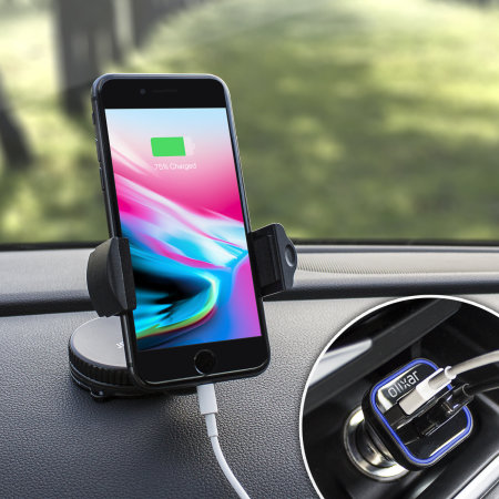 Olixar DriveTime iPhone 8 Car Holder, Cable & Charger In-Car Pack