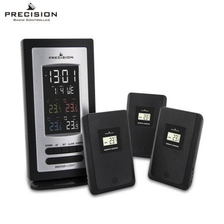 Precision Multi-Temperature Alarm Clock w/ 3x Radio Temp Sensors