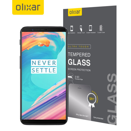 Olixar OnePlus 5T Tempered Glas Displayschutz