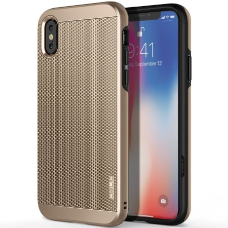 obliq slim meta iphone x case - champagne gold