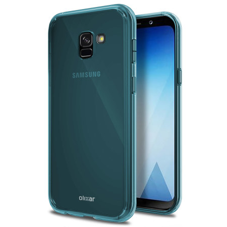 Olixar FlexiShield Samsung Galaxy A8 2018 Gel Case - Blue