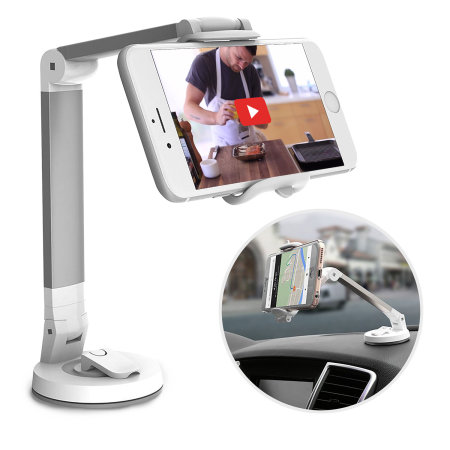 Olixar Universal Adjustable Multipurpose Smartphone Holder - Silver