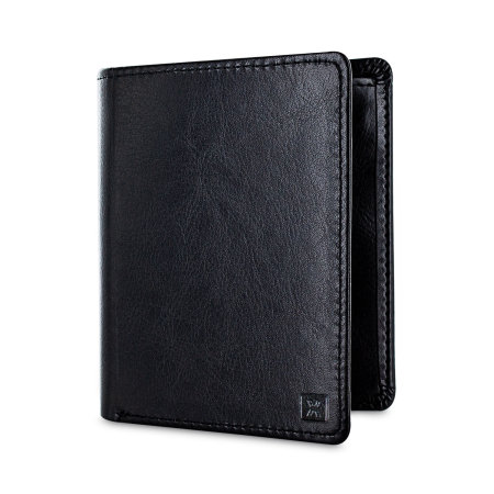Olixar Leather-Style RFID Blocking Card Holder & Wallet - Black