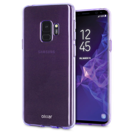 Olixar FlexiShield Samsung Galaxy S9 Gel Case - Lilac Purple
