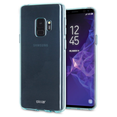 Olixar FlexiShield Samsung Galaxy S9 Gel Case - Blauw
