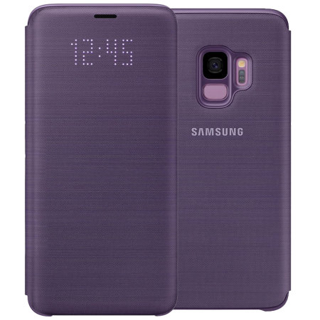 Official Samsung Galaxy S9 LED Flip Wallet Cover Case - Purple