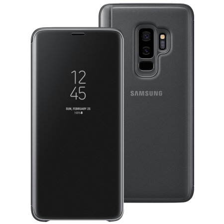 Funda Oficial Samsung Galaxy S9 Plus Clear View con soporte - Negra