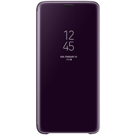 big sale 611d1 10769 Official Samsung Galaxy S9 Plus Clear View Stand Cover Case - Purple