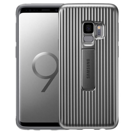 the best attitude ba4fc 55dc4 Official Samsung Galaxy S9 Protective Stand Cover Case - Silver