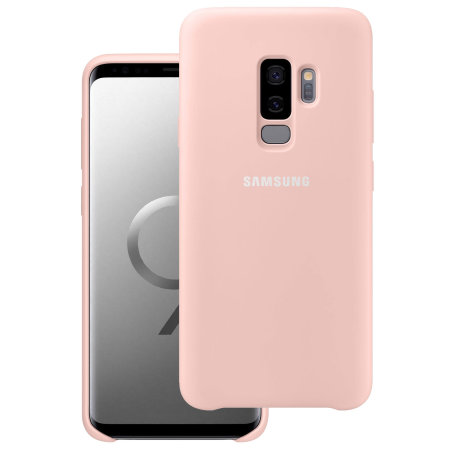 free shipping 75a15 2f511 Official Samsung Galaxy S9 Plus Silicone Cover Case - Pink