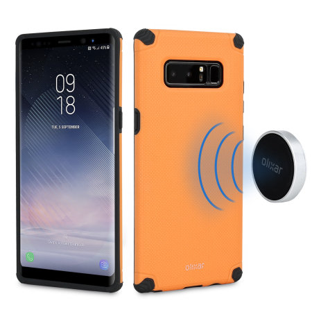 on sale ff4d9 65165 Olixar Magnus Samsung Galaxy Note 8 Case and Magnetic Holders - Orange