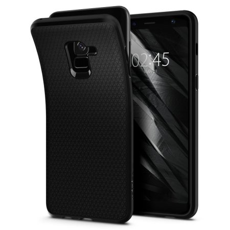 coque samsung galaxy a8 2018 spigen liquid air noire avis. Black Bedroom Furniture Sets. Home Design Ideas