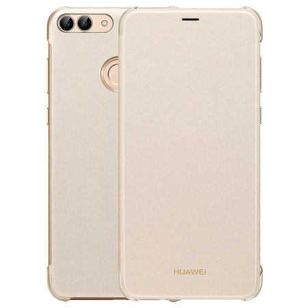 sale retailer e0b26 c8b93 Official Huawei P Smart 2018 Flip Case - Gold