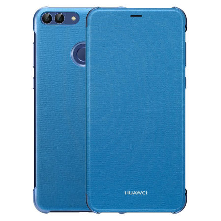sports shoes ac697 2da22 Official Huawei P Smart 2018 Flip Case - Blue