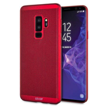 Olixar MeshTex Samsung Galaxy S9 Plus Hülle - Brazen Rot