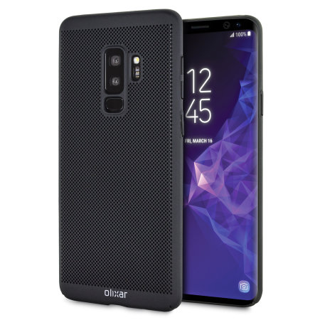 Olixar Mesh Tex Samsung Galaxy S9 Plus Case - Tactical Black
