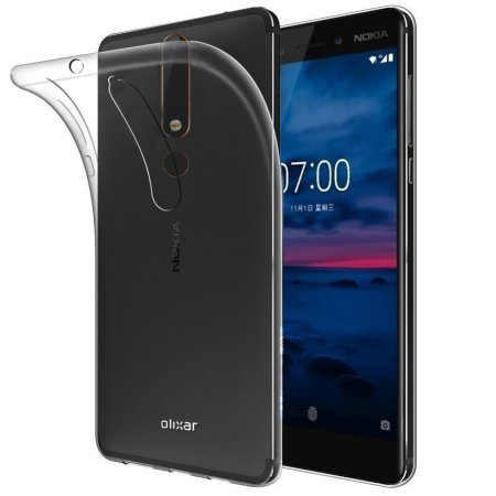 coque nokia 6 2018 olixar flexishield transparente. Black Bedroom Furniture Sets. Home Design Ideas