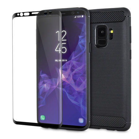 Samsung Galaxy S9 Case and Glass Screen Protector - Olixar Sentinel