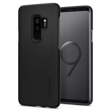 spigen thin fit samsung galaxy s9 plus case black. Black Bedroom Furniture Sets. Home Design Ideas