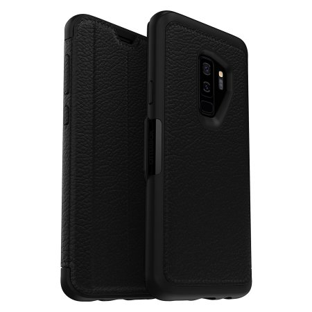 official photos f2d44 54c13 OtterBox Strada Samsung Galaxy S9 Plus Case - Black