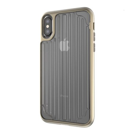 kajsa trans-shield collection iphone x case - clear / gold