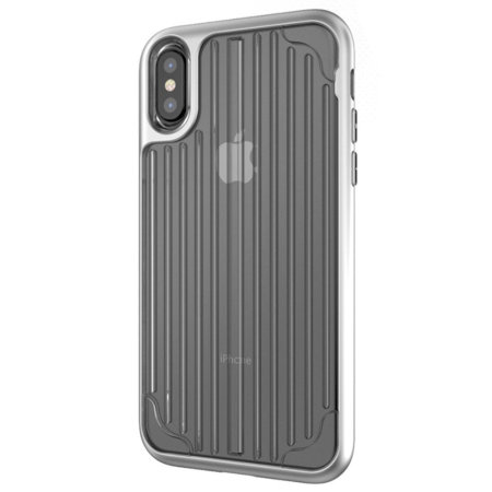 kajsa trans-shield collection iphone x case - clear / silver reviews