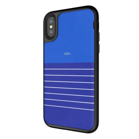 kajsa resort collection stripe pattern iphone x case - navy