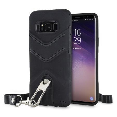 premium selection c338b 7899a Olixar LanYard Samsung Galaxy S8 Protective Case - Black