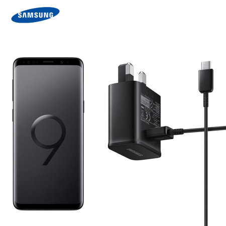 Official Samsung Galaxy S9 Adaptive Fast Charger & USB-C Cable - Black