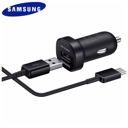 Official Galaxy S9 Plus USB-C Mini Car Adaptive Fast Charger - Black