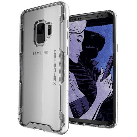 Ghostek Cloak 3 Samsung Galaxy S9 Tough Case - Clear / Silver