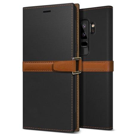Obliq Z2 Samsung Galaxy S9 Plus Folio Wallet Case - Black / Brown