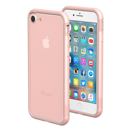 thanotech k11 iphone 8 / 7 aluminium bumper case - rose gold