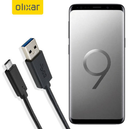 olixar usb c samsung galaxy s9 plus charging cable. Black Bedroom Furniture Sets. Home Design Ideas