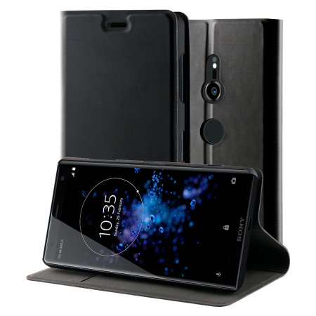 Roxfit Sony Xperia XZ2 Slim Standing Book Case - Black