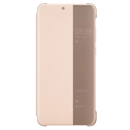 Original Huawei P20 Smart View Flip Case Tasche in Rosa
