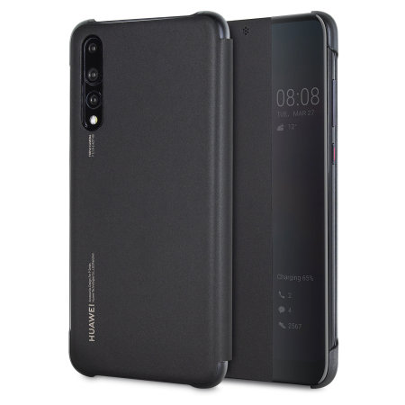 Official Huawei P20 Pro Smart View Flip Case - Black