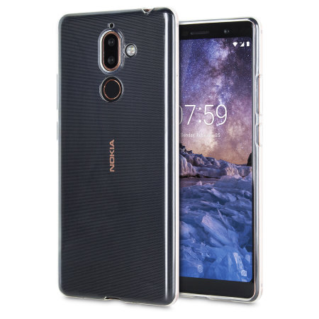 best service e7a25 b628a Olixar Ultra-Thin Nokia 7 Plus Gel Case - Clear