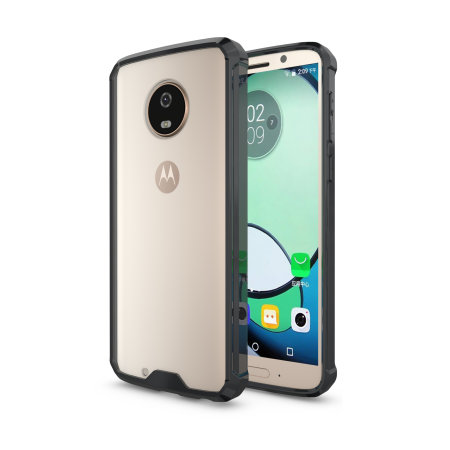 cheap for discount 975af 3d7f5 Olixar ExoShield Tough Snap-on Motorola Moto G6 Case - Black / Clear