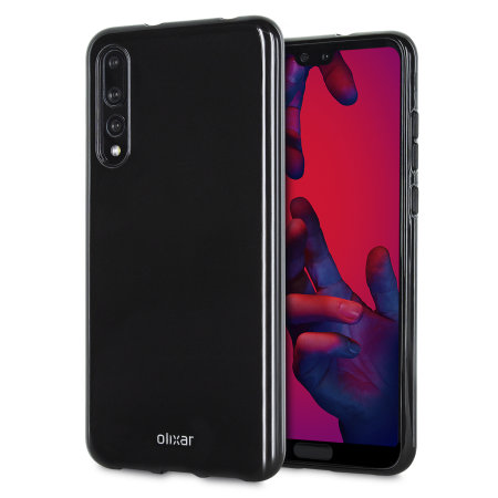 Olixar FlexiShield Huawei P20 Pro Gel Case - Solid Black