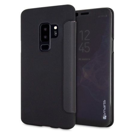 4smarts Kyoto Interactive Samsung Galaxy S9 Plus Flip Case - Black