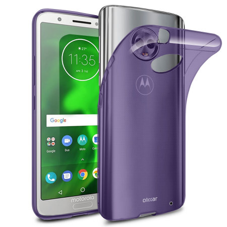 Funda Motorola Moto G6 Plus Olixar FlexiShield Gel - Morada