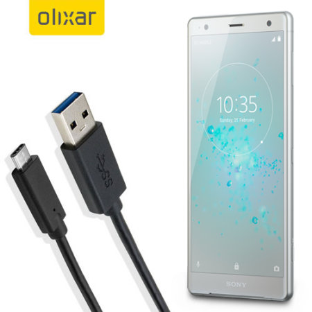Olixar USB-C Sony Xperia XZ2 Charging Cable - Black 1m