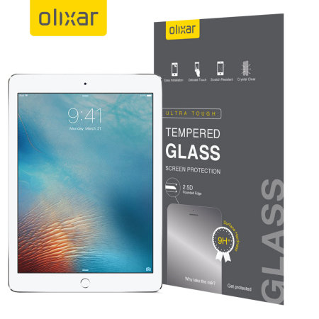 "Olixar iPad 9.7"" 2018 6th Gen. Tempered Glass Screen Protector"