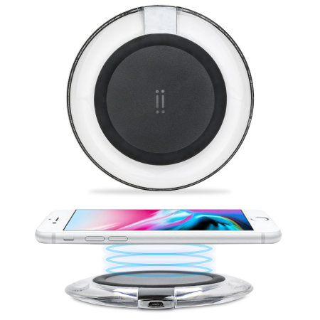 Aiino iPhone 8 Wireless Charging Pad - Black / Clear