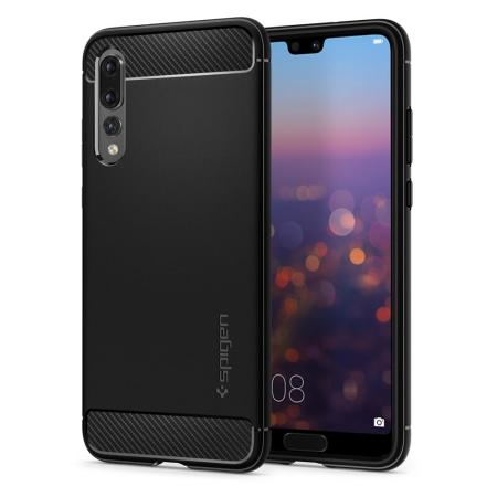 Spigen Rugged Armor Huawei P20 Pro Tough Case - Black