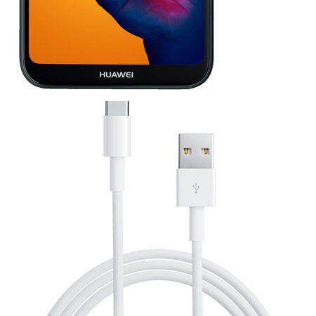 Official Huawei P20 Lite Super Charge USB-C Cable 1m -  White